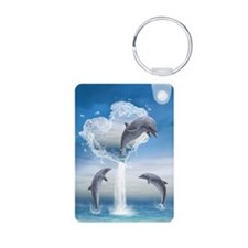 The Heart Of The Dolphins Keychains
