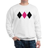 Pink and Black Argyle Jumper