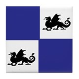 Middle Ages (blue) Tile Coaster
