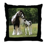 Mare with foal Throw Pillow
