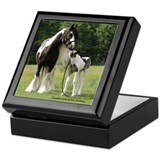Gypsy Mare with foal Keepsake Box