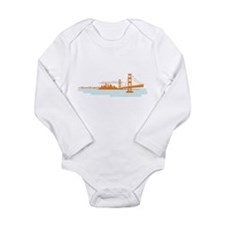 San Francisco Golden Gate Long Sleeve Onsie