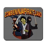 Zombie Ninja Pirate Land Mousepad