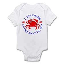 I got crabs in Ocean City Infant Bodysuit