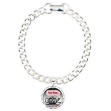 Zebra Print Teapot Pink Bracelet
