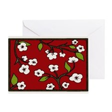 cherry blossoms holiday Greeting Card