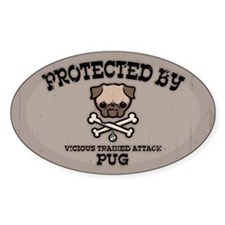 Protected By Pug Decal