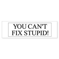 Fix Stupid Bumper Sticker 2