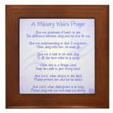 Military Wife's Prayer- Framed Tile