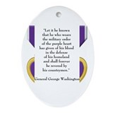 Purple Heart Ornament (Oval)