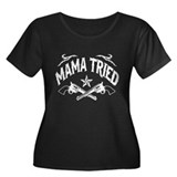 MAMA TRIED - Women's Plus Size Scoop Neck Dark T-S