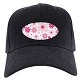 Pretty In Pink Flowers Baseball Hat