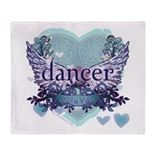 dancer forever by DanceShirts.com Throw Blanket
