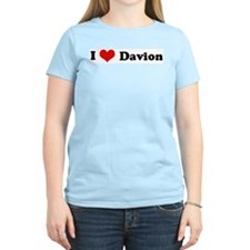 I Love Davion Women's Pink T-Shirt