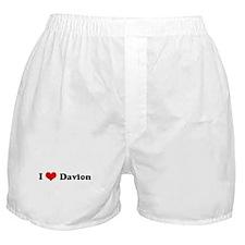I Love Davion Boxer Shorts