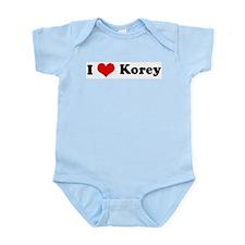 I Love Korey Infant Creeper
