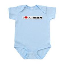 I Love Alessandro Infant Creeper
