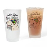 Yellow Labrador Brain Atlas Drinking Glass