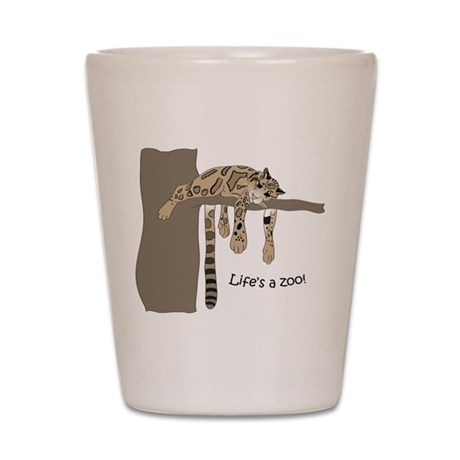 Clouded Leopard #2 Shot Glass
