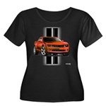New Camaro Red Women's Plus Size Scoop Neck Dark T
