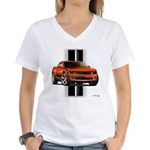 New Camaro Red Women's V-Neck T-Shirt