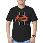 New Camaro Red Men's Fitted T-Shirt (dark)