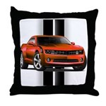 New Camaro Red Throw Pillow