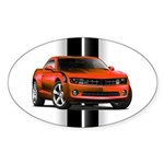 New Camaro Red Sticker (Oval 50 pk)