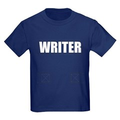 Writer Bullet-Proof Vest Kids Dark T-Shirt