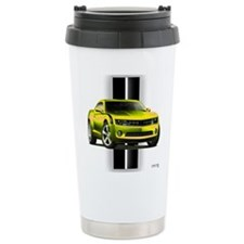 New Camaro Yellow Ceramic Travel Mug