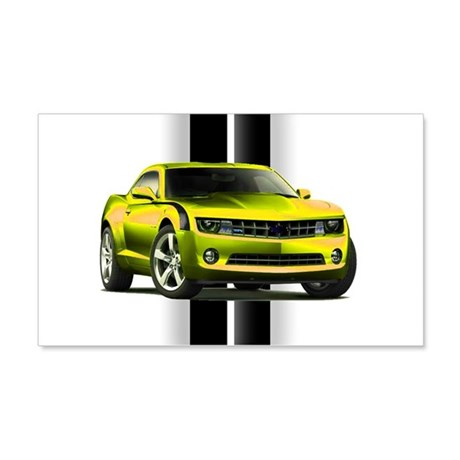 New Camaro Yellow 22x14 Wall Peel