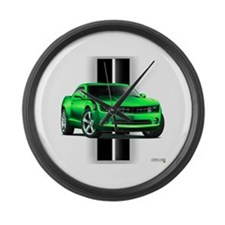 New Camaro Green Large Wall Clock