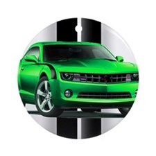 New Camaro Green Ornament (Round)