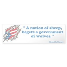 Sheep...Wolves III no wolf - Bumper Sticker