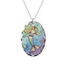Cute Little Mermaid Pendant Necklace