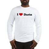 I Love Darin Long Sleeve T-Shirt
