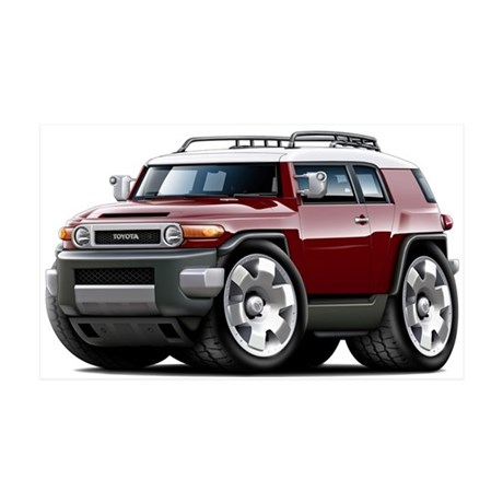 FJ Cruiser Maroon Car 38.5 x 24.5 Wall Peel