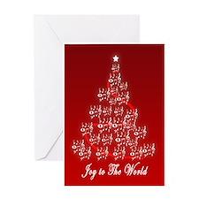 Musical Christmas Tree Greeting Card