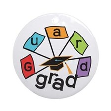 Guard Grad Flags Ornament (Round)