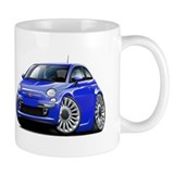 Fiat 500 Blue Car Small Mug