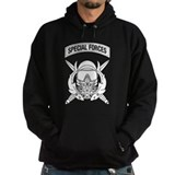 Combat Diver Supervisor w Tab B-W Hoodie