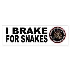 Brake for Snakes Bumper Bumper Sticker