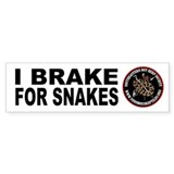 Brake for Snakes Bumper Car Sticker