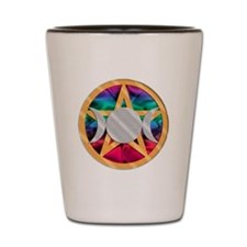 Pentagram Triple Goddess Shot Glass