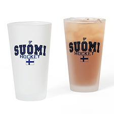 Finland Suomi Hockey Leijonat Drinking Glass