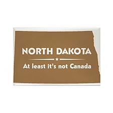 North Dakota: Not Canada Rectangle Magnet