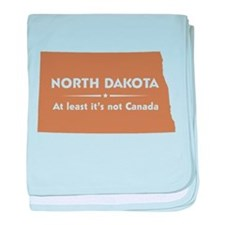North Dakota: Not Canada baby blanket