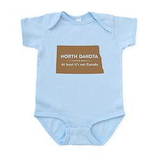North Dakota: Not Canada Infant Bodysuit