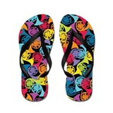 Colorful French Horns Flip Flops