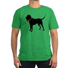 Christmas or Holiday Bloodhound Silhouette T